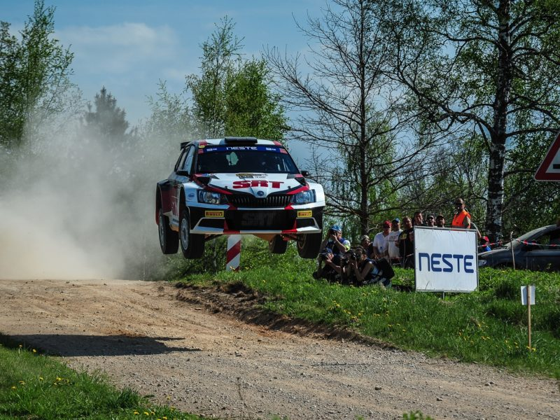 NESTE SPECIAL STAGE JUMP TO TEST THE SKILLS OF RALLY TALSI COMPETITORS