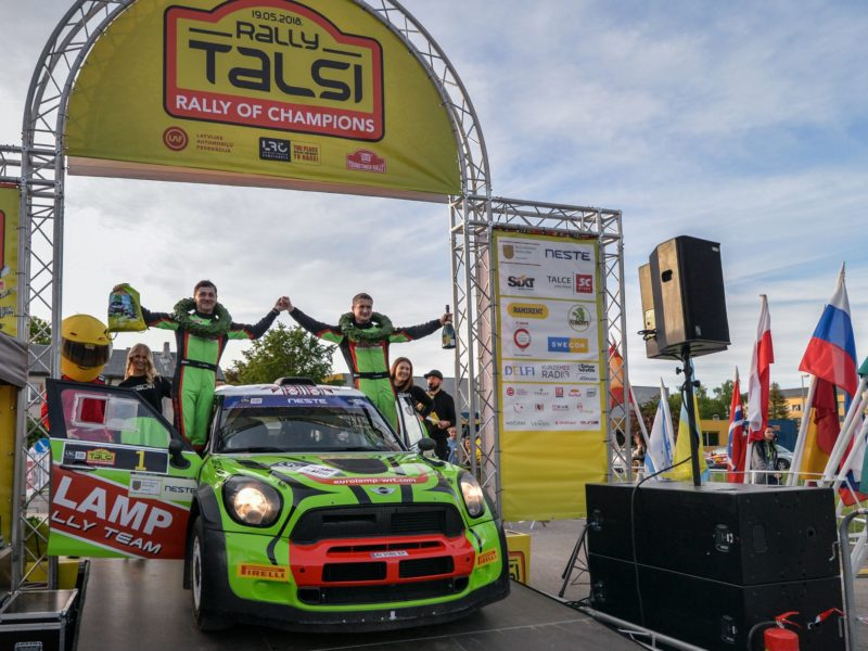 UKRAINIAN VALERII GORBAN WINS RALLY TALSI, LATVIAN JĀNIS VOROBJOVS TAKES HOME THE CHAMPIONS CUP